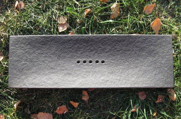 Доска (чабань) из черного камня