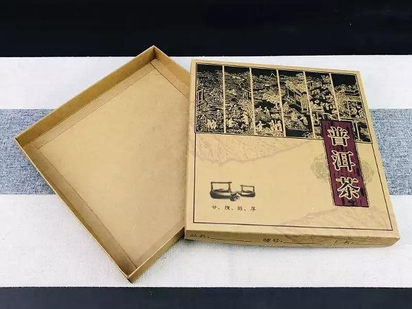 Коробка для пуэра крафтовая